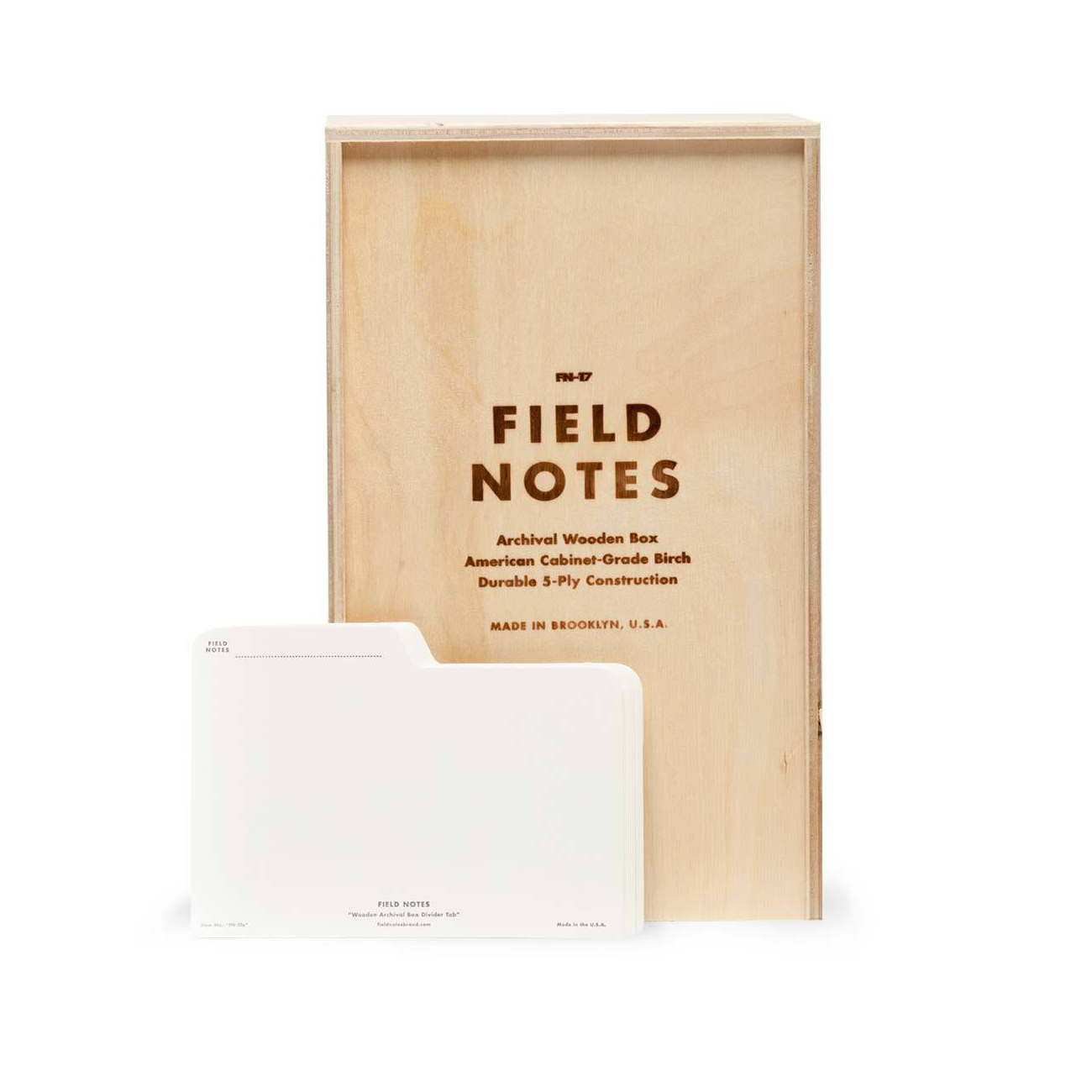 Field Notes Archival Box, Sperrholzschachtel, Registerkarten,
