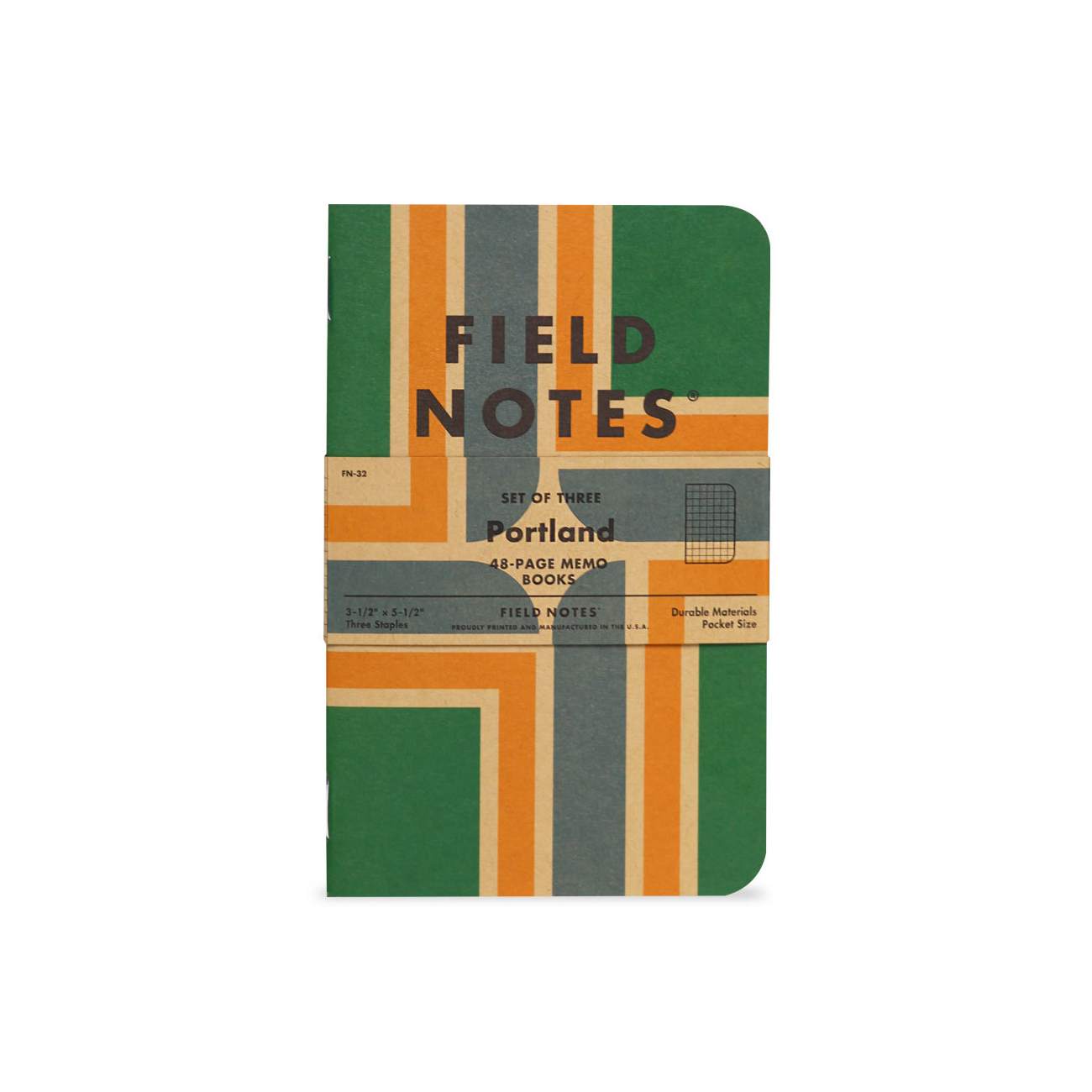 Field Notes, Portland Edition, Flaggen-Grafik, Notizhefte,