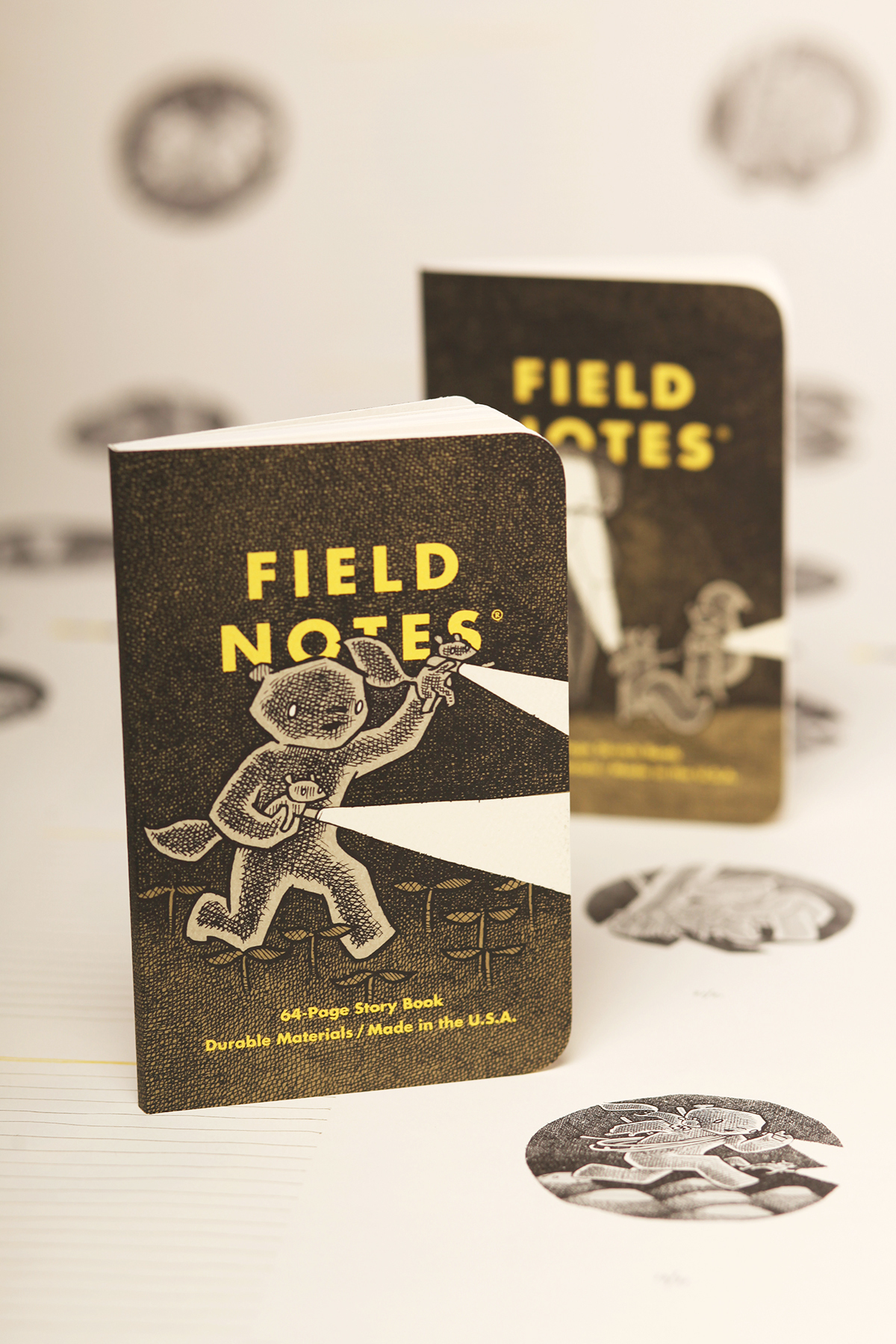 Field Notes, Haxley Edition, zwei Notizhefte, liebevoll illustriert,
