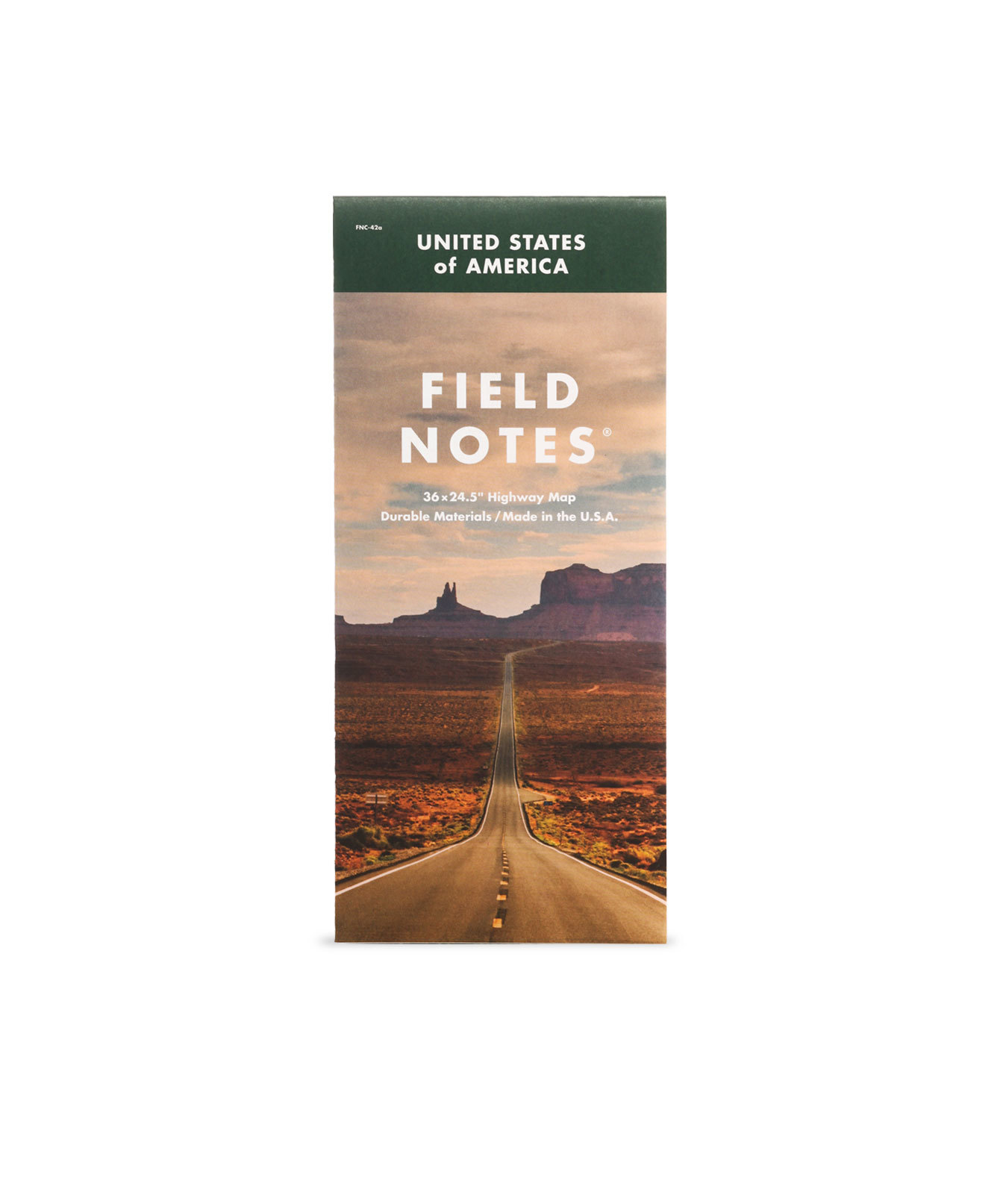 Field Notes, Highway Map, Straßenkarte der USA,