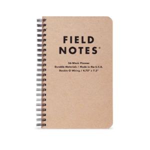 56-Week Planner, Field Notes, braunes Cover, Spiralbindung,