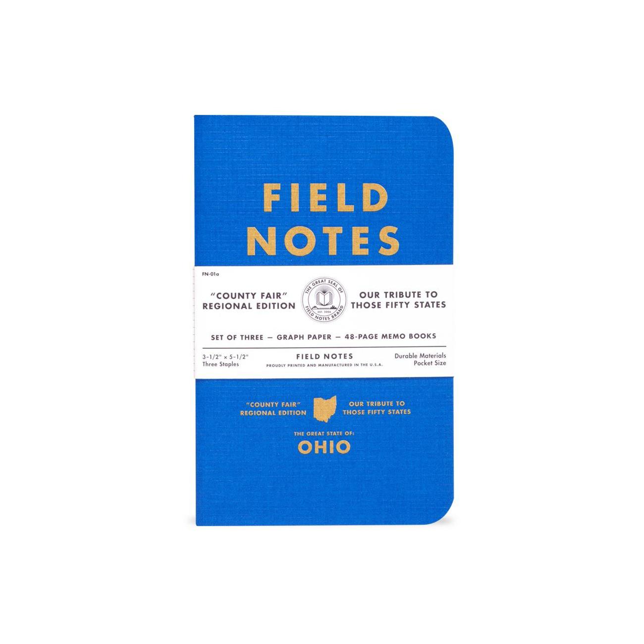 County Fair, Field Notes, karierte Notizhefte, zu Bundesstaaten der USA,