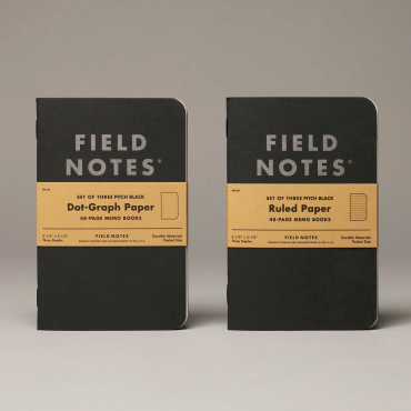 FIELD NOTES – PITCH BLACK Memo Book 3er Pack
