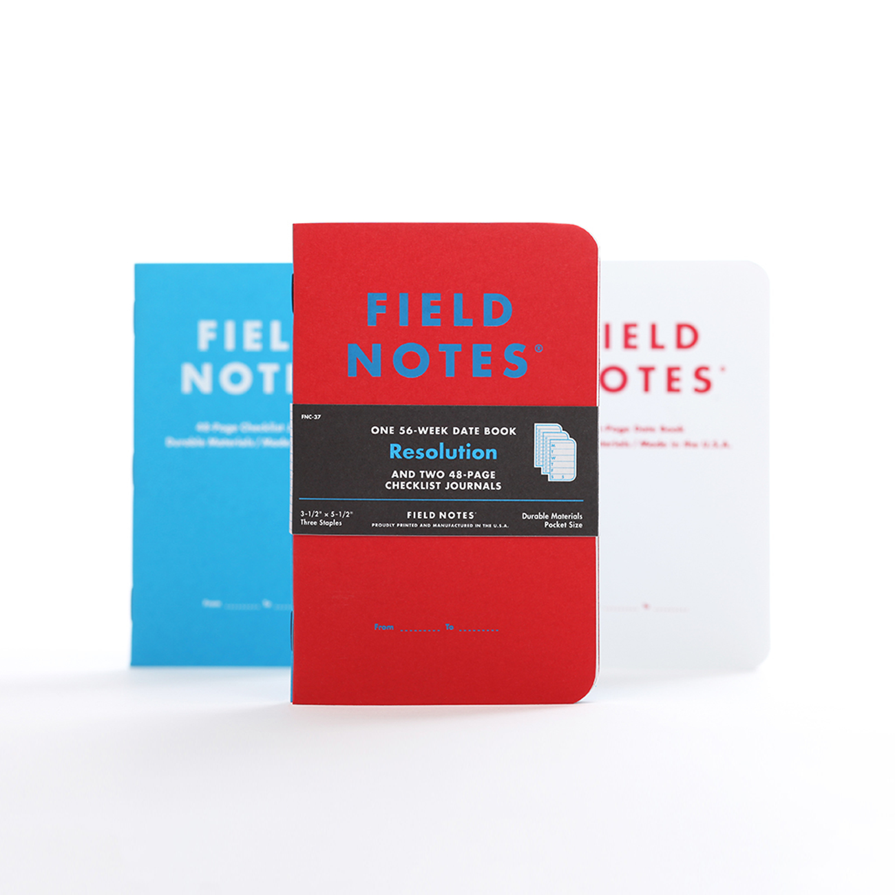Field Notes, Resolution Edition, Notizhefte, 3er Pack, zum planen,