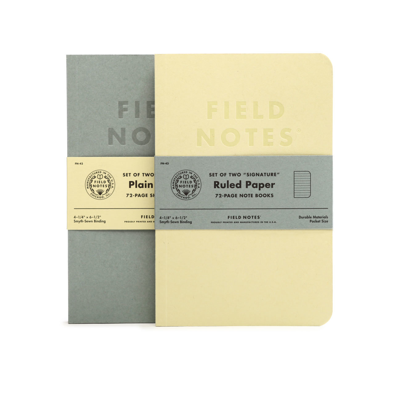 Field Notes, Signature Edtion, 2er-Set, Notizhefte, Klebebindung,