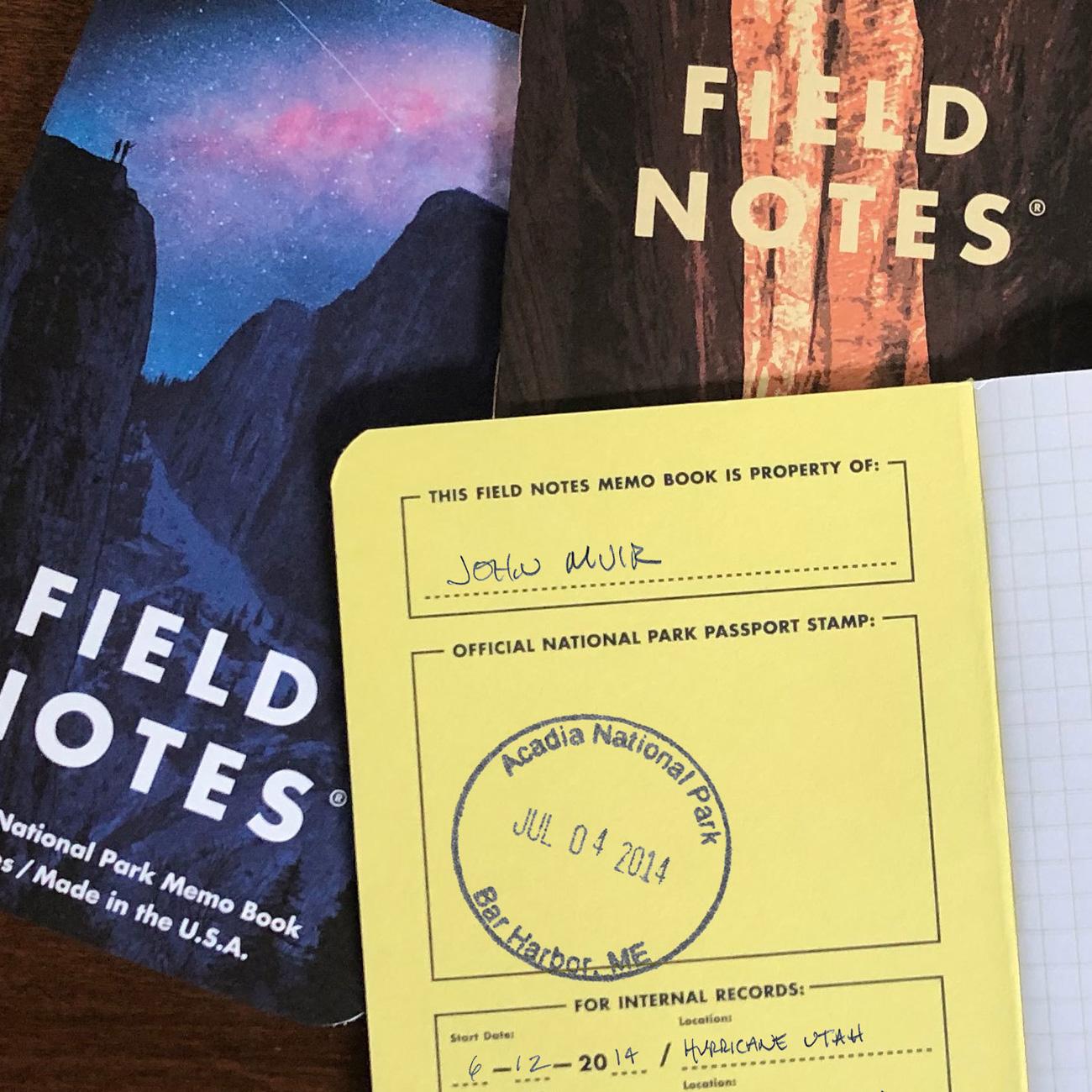 Field Notes, National Parks Edition, illustrierte Umschläge