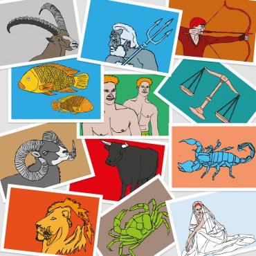 UMWERK – Postkarten STERNZEICHEN