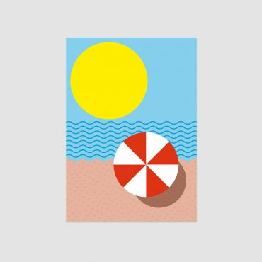 UMWERK – Postkarte SOMMERSTRAND