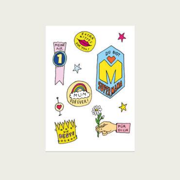 UMWERK – Postkarte SUPERMAMA