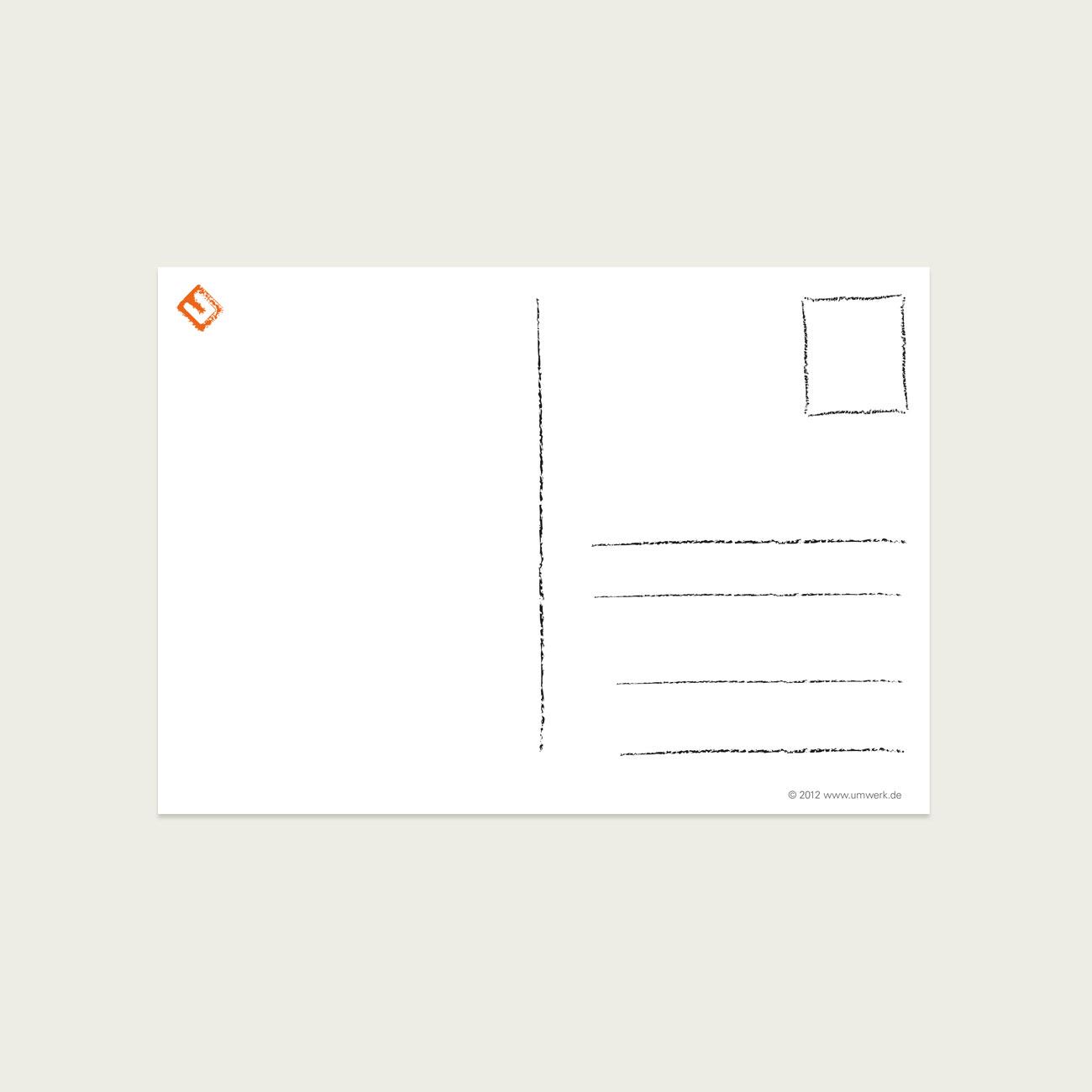 UMWERK - Postkarte TUT MIR SOO LEID! Rückseite