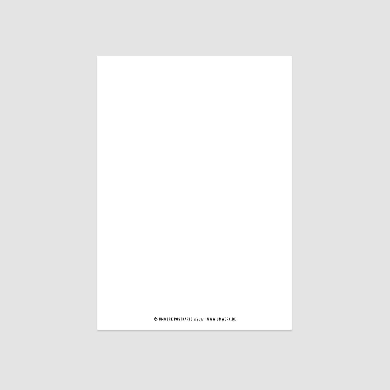 Postkarte, grafisch, sw, Rückseite, DIN-A6
