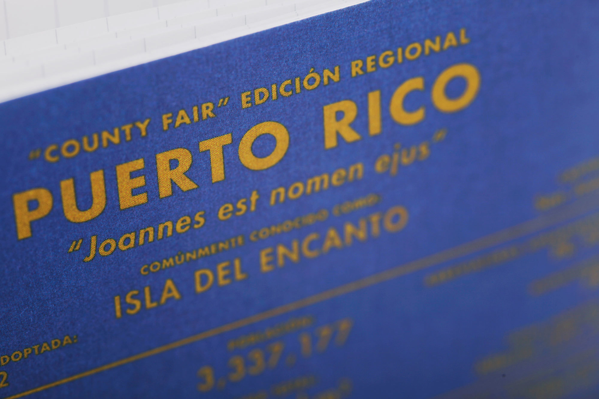Field Notes, Puerto Rico, Noizhefte, blau,